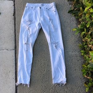 Re/dun white ripped jeans vintage